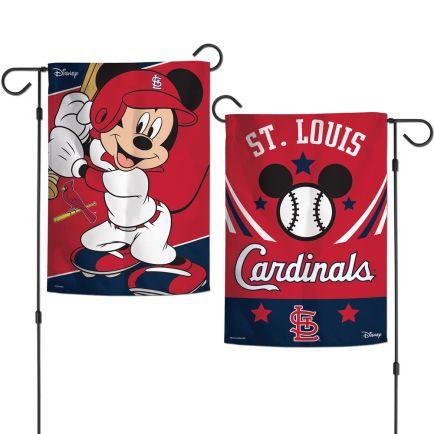 """St. Louis Cardinals / Disney Garden Flags 2 sided 12.5"""" x 18"""""""