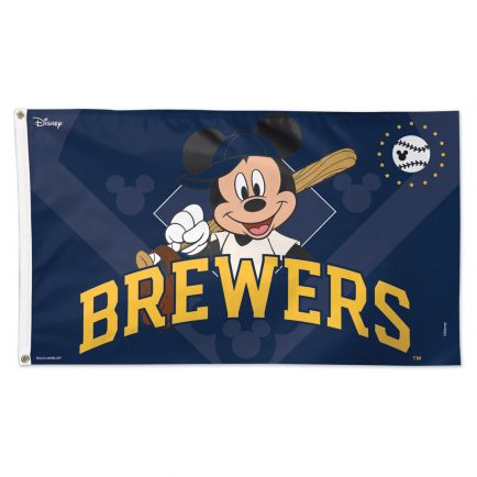 Milwaukee Brewers / Disney Mickey Mouse Flag - Deluxe 3' X 5'