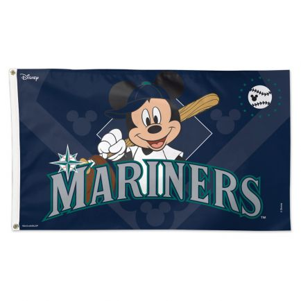 Seattle Mariners / Disney Flag - Deluxe 3' X 5'