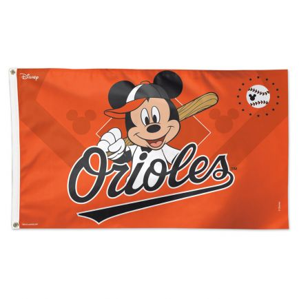 Baltimore Orioles / Disney Flag - Deluxe 3' X 5'