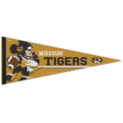"Missouri Tigers / Disney MICKEY MOUSE FOOTBALL Premium Pennant 12"" x 30"""