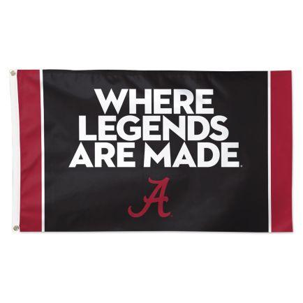 Alabama Crimson Tide WHERE LEGENDS ARE MADE Flag - Deluxe 3' X 5'