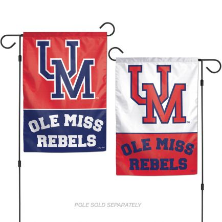"""Ole Miss Rebels /College Vault Garden Flags 2 sided 12.5"""" x 18"""""""