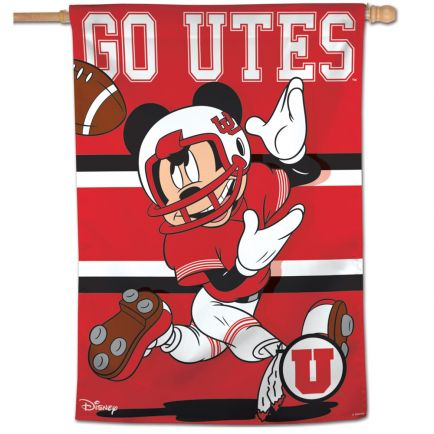 "Utah Utes / Disney Vertical Flag 28"" x 40"""
