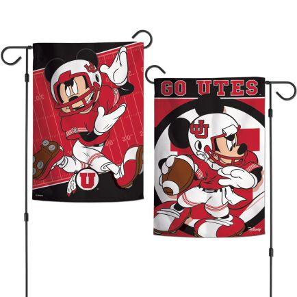 "Utah Utes / Disney Garden Flags 2 sided 12.5"" x 18"""