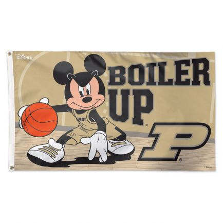 Purdue Boilermakers / Disney MICKEY MOUSE BASKETBALL Flag - Deluxe 3' X 5'