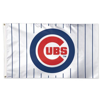 Chicago Cubs Pinstripes Flag - Deluxe 3' X 5'