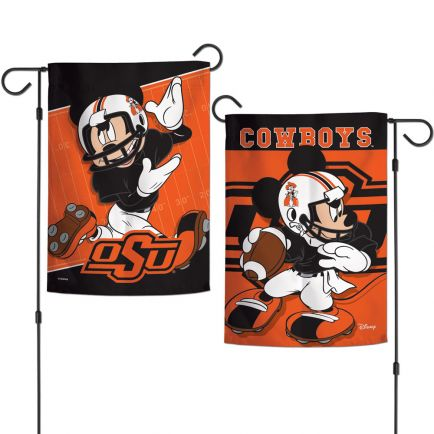 "Oklahoma State Cowboys / Disney Garden Flags 2 sided 12.5"" x 18"""