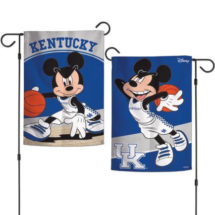 "Kentucky Wildcats / Disney MICKEY MOUSE BASKETBALL Garden Flags 2 sided 12.5"" x 18"""