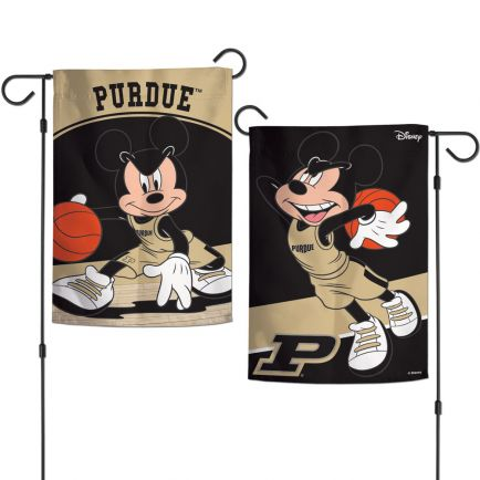 "Purdue Boilermakers / Disney MICKEY MOUSE BASKETBALL Garden Flags 2 sided 12.5"" x 18"""