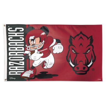 Arkansas Razorbacks / Disney MICKEY Flag - Deluxe 3' X 5'