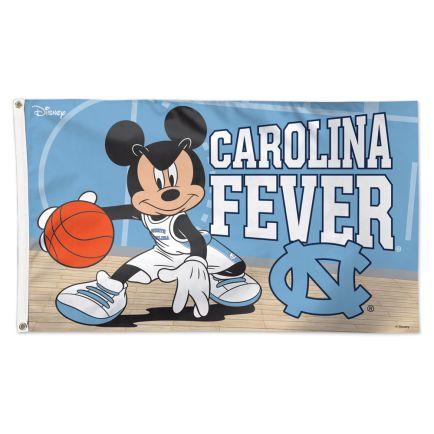 North Carolina Tar Heels / Disney MICKEY MOUSE BASKETBALL Flag - Deluxe 3' X 5'