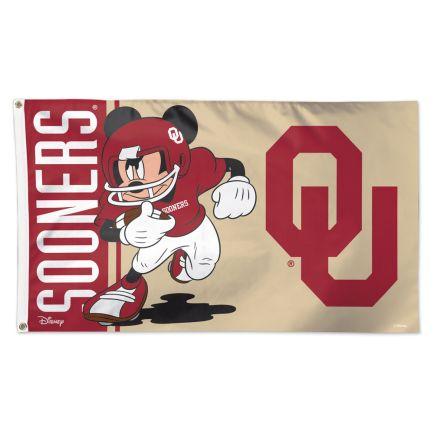 Oklahoma Sooners / Disney MICKEY Flag - Deluxe 3' X 5'