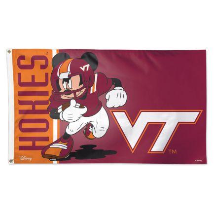Virginia Tech Hokies / Disney MICKEY Flag - Deluxe 3' X 5'