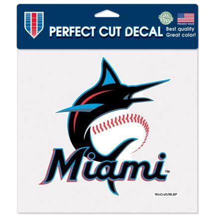 "Miami Marlins Perfect Cut Color Decal 8"" x 8"""