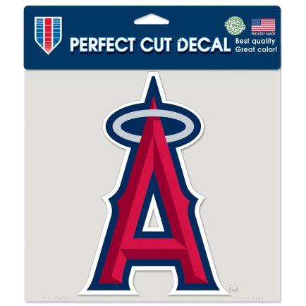 "Angels Logo Perfect Cut Color Decal 8"" x 8"""