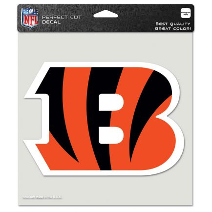 """Cincinnati Bengals Perfect Cut Color Decal 8"""" x 8"""""""