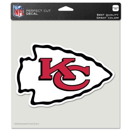 "Kansas City Chiefs Perfect Cut Color Decal 8"" x 8"""