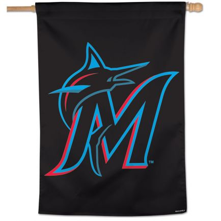"Miami Marlins Vertical Flag 28"" x 40"""