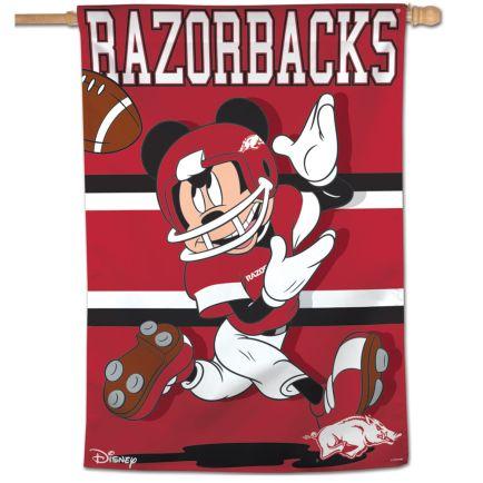 "Arkansas Razorbacks / Disney MICKEY MOUSE Vertical Flag 28"" x 40"""