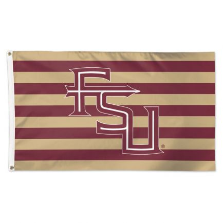 Florida State Seminoles / Stars and Stripes NCAA FSU LOGO WITH STRIPE Flag - Deluxe 3' X 5'