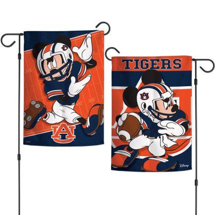 "Auburn Tigers / Disney MICKEY MOUSE Garden Flags 2 sided 12.5"" x 18"""