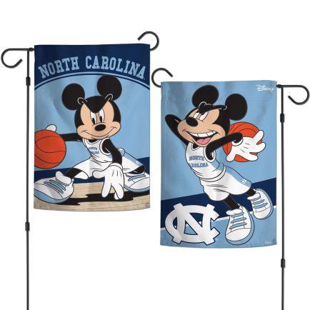 "North Carolina Tar Heels / Disney MICKEY MOUSE BASKETBALL Garden Flags 2 sided 12.5"" x 18"""