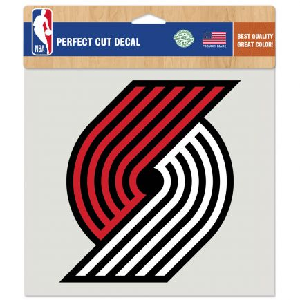 "Portland Trail Blazers Perfect Cut Color Decal 8"" x 8"""