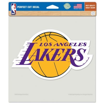 "Los Angeles Lakers Perfect Cut Color Decal 8"" x 8"""