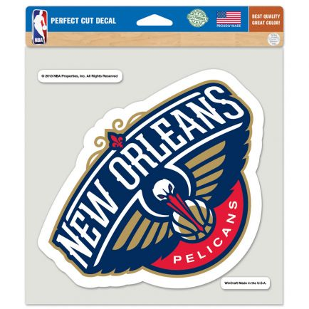 """New Orleans Pelicans Perfect Cut Color Decal 8"""" x 8"""""""
