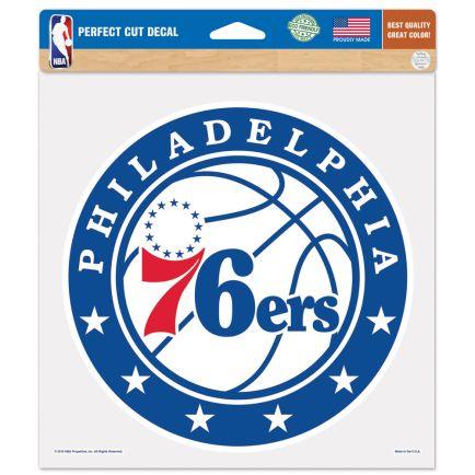 "Philadelphia 76ers Perfect Cut Color Decal 8"" x 8"""