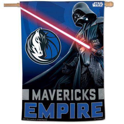 "Dallas Mavericks / Star Wars Star Wars Vertical Flag 28"" x 40"""
