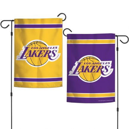 "Los Angeles Lakers Garden Flags 2 sided 12.5"" x 18"""