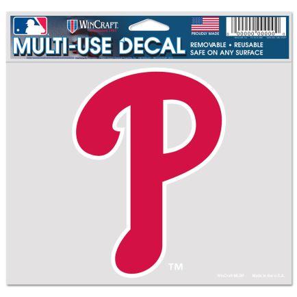 "Philadelphia Phillies Multi-Use Decal -Clear Bckrgd 5"" x 6"""