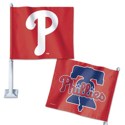 "Philadelphia Phillies Car Flag 11.75"" x 14"""