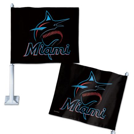 "Miami Marlins Car Flag 11.75"" x 14"""