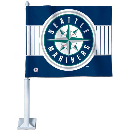 "Seattle Mariners Car Flag 11.75"" x 14"""