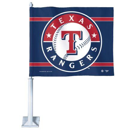 """Texas Rangers Car Flag 11.75"""" x 14"""""""