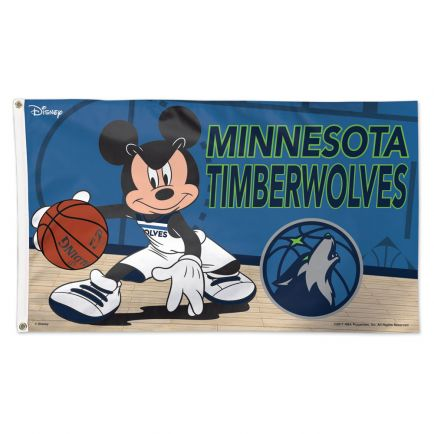 Minnesota Timberwolves / Disney Flag - Deluxe 3' X 5'