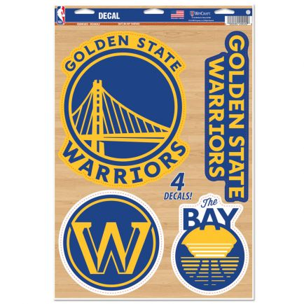 "Golden State Warriors Multi-Use Decal 11"" x 17"""