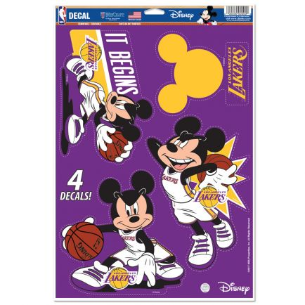 "Los Angeles Lakers / Disney Multi-Use Decal 11"" x 17"""