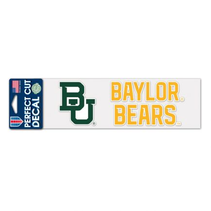 "Baylor Bears Perfect Cut Decals 3"" x 10"""