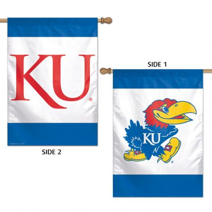 "Kansas Jayhawks Vertical Flag 2 Sided 28"" x 40"""