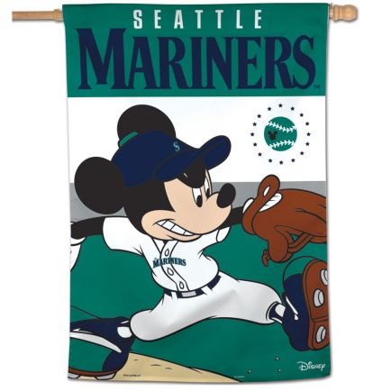 "Seattle Mariners / Disney Vertical Flag 28"" x 40"""