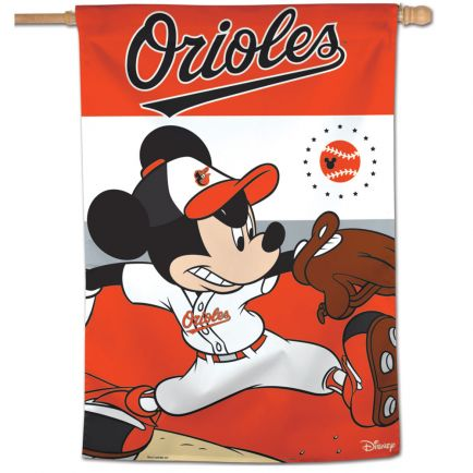 "Baltimore Orioles / Disney Vertical Flag 28"" x 40"""