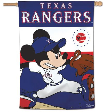 "Texas Rangers / Disney Vertical Flag 28"" x 40"""