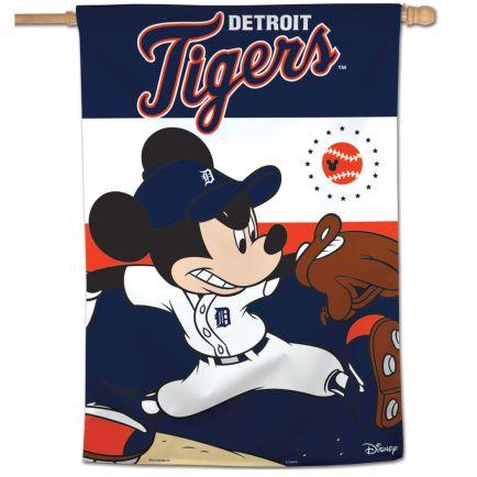 "Detroit Tigers / Disney Vertical Flag 28"" x 40"""