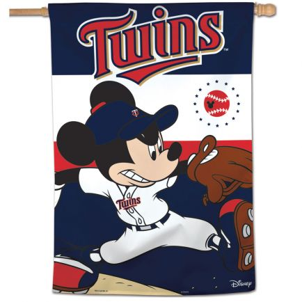 "Minnesota Twins / Disney Vertical Flag 28"" x 40"""