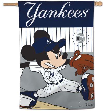 """New York Yankees / Disney Vertical Flag 28"""" x 40"""""""
