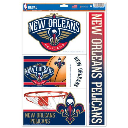 """New Orleans Pelicans Multi Use Decal 11"""" x 17"""""""